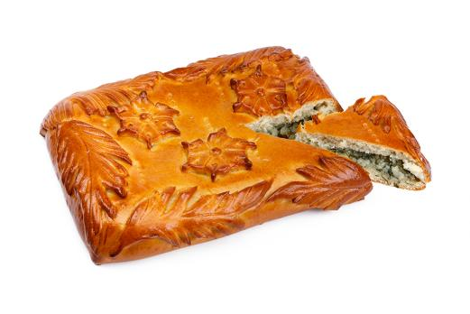 Пирог с картошкой и укропом